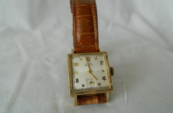 Vintage Elgin Deluxe 10K Gold Filled men's Watch