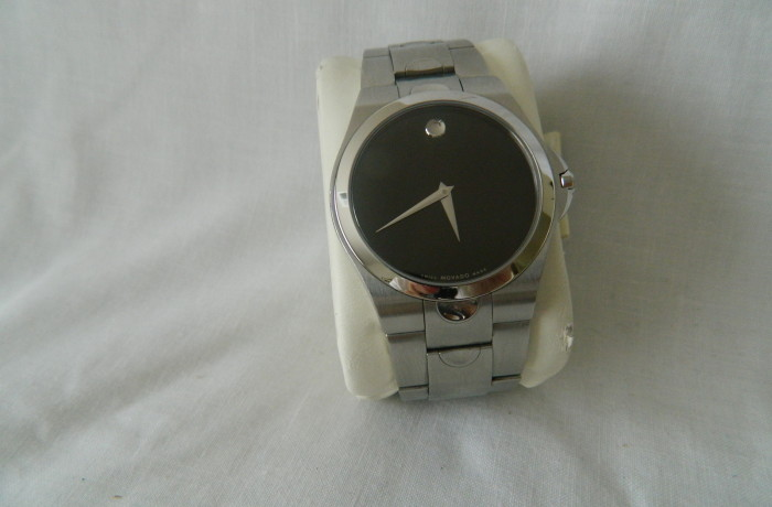 Movada Swiss Made Black Dial Men's Watch