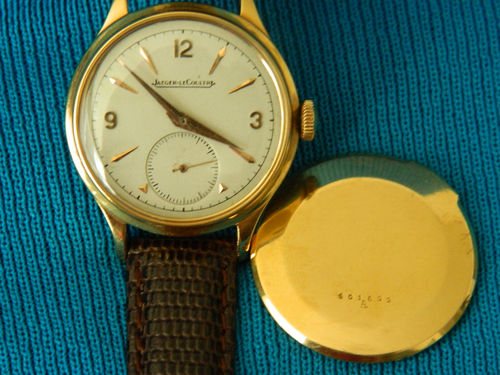 Authentic Jaeger LeCoultre 18K Sold Gold Wrist Watch – Excellent Condition