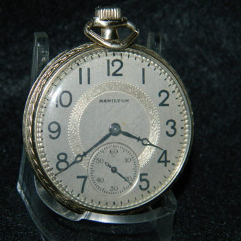 2014-04-12 HAMILTON 912 14KGF BACK DOUBLE CASE COVERS 7J 12 S POCKET WATCH