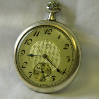 ELGIN 15J DOUBLE SUNK SILVERODE POCKET WATCH