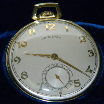 HAMILTON 921 HARDY 14KGOLD FILLED 21 JEWEL POCKET WATCH
