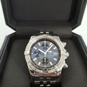 BREITLING Chronograph Chronometer Automatic Steel Men_s WATCH Rotating Bezel