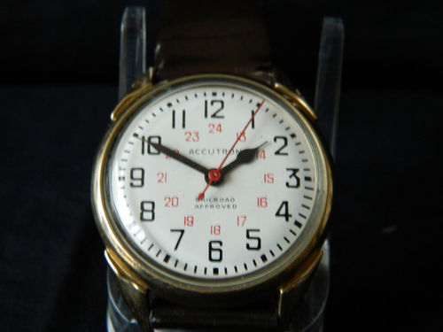 Bulova Accutron 214 Railroad Approved 10K Gold Filled Men's Watch