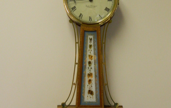 Foster S. Campos, Pembroke, Mass, Willard's Patent Tablet Timepiece Banjo Clock Reproduction – 8 Day – Time Only