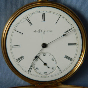 ELGIN 14KT GOLD DOUBLE HUNTER 1902